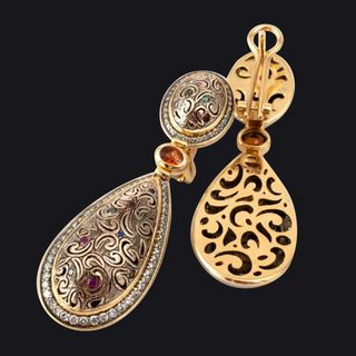 Earrings With Garnet LB13001EYW