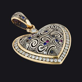 Heart-Shaped Pendant LB17001PYW