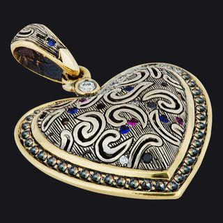 Heart-Shaped Pendant LB19001PY