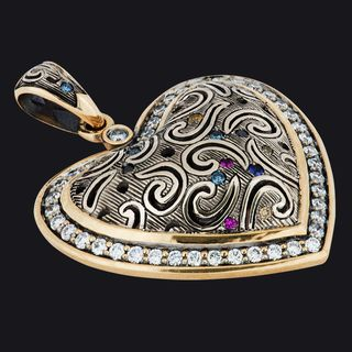 Heart-Shaped Pendant LB18001PYW